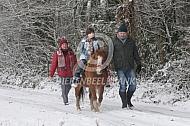Wandeltocht door de sneeuw