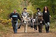 Wandeling met de ezel