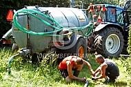 Slaan van een waterbron