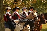 Trompetterkorps te paard