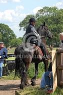 Ruiter op Fries paard